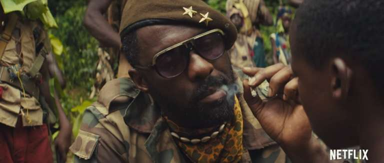 "Idris Elba dans le film ""Beasts of No Nation"", de Cary Fukunaga."