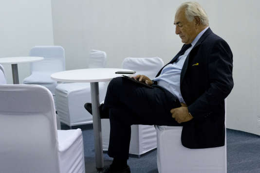 Dominique Strauss-Kahn, à Kiev, en Ukraine, le 11 septembre.