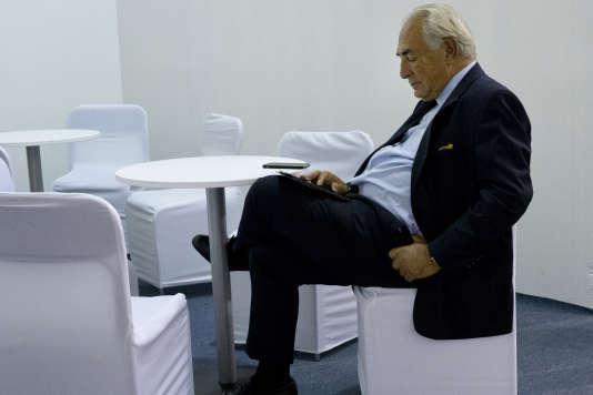Dominique Strauss-Kahn, à Kiev, en Ukraine, le 11 septembre.