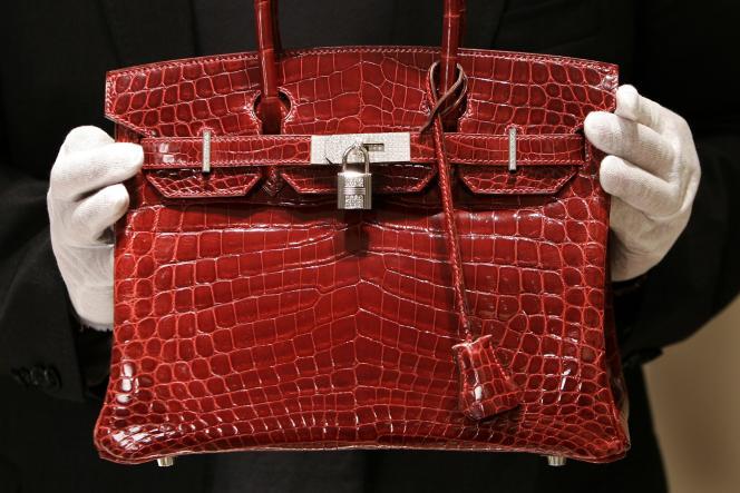 Un sac Hermès, modèle «Birkin», en 2007.