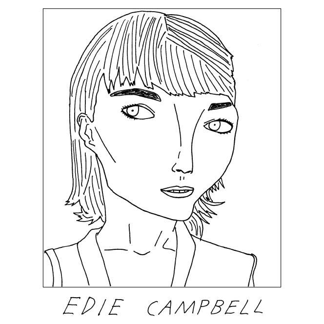 Portrait du mannequin britannique Edie Campbell posté par Sean Ryan sur son compte Instagram Badly Drawn Models (« mannequins mal dessinés »). Apprécié  et reposté par l'intéressée, ce croquis fut le ticket d'entrée du dessinateur dans le milieu de la mode.