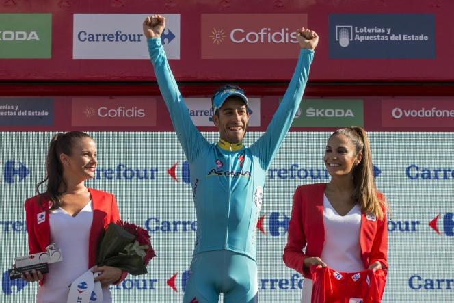 Fabio Aru célèbre sa prise de pouvoir sur la Vuelta à Cercedilla