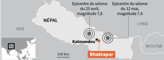 Les deux séismes qui ont frappé le pays.