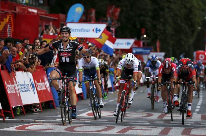 L'Allemand John Degenkolb, vainqueur de la dernière étape du Tour d'Espagne, dimanche 13 septembre à Madrid.