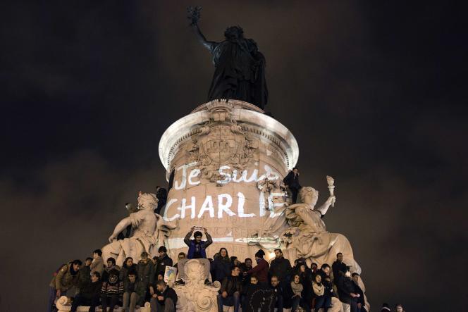 Le 7 janvier 2015, place de la République.
