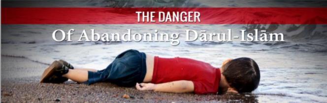 La photo d'Aylan Kurdi utilisée par l'Etat islamique pour illustrer un chapitre de son magazine de propagande, «Dabiq».