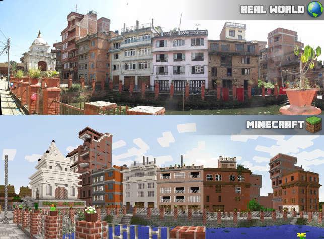La ville de Kirtipur, au Népal, a été modélisée sur Minecraft par ses habitants.