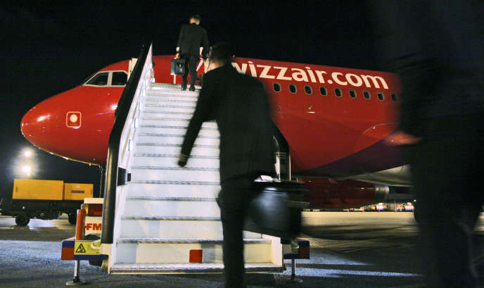 Un avion de la compagnie Wizz Air, à Budapest, en 2005.