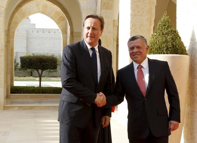 Le premier ministre britannique David Cameron et le roi Abdoullah de Jordanie, en septembre 2015.