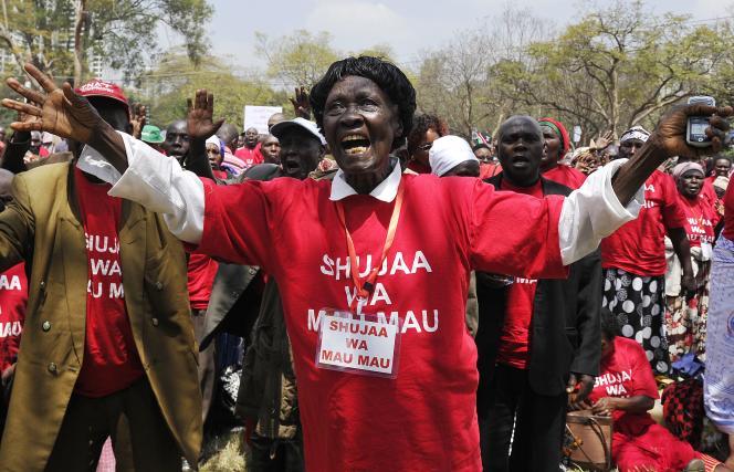 Un vétéran de la rébellion Mau Mau lors de l'inauguration du mémorial en mémoire de des insurgés à Nairobi, le 12 septembre.