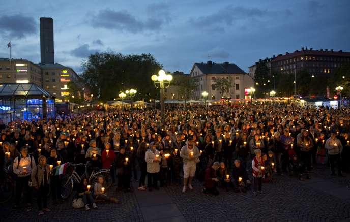 Manifestation de soutien aux migrants, à Stockholm, en 2015.