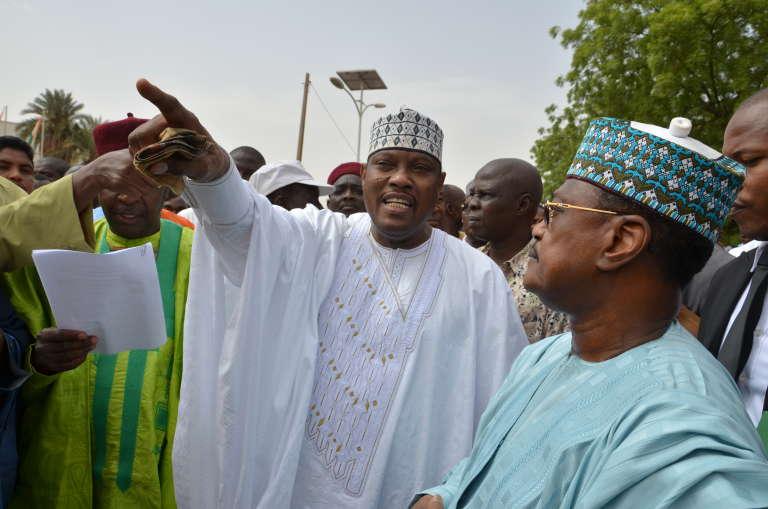 Hama Amadou, candidat du Mouvement démocratique nigérien (Moden Lumana), le 15 juin 2014, à Niamey.