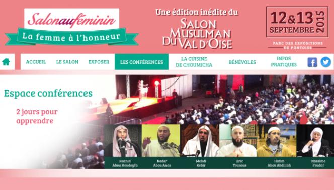 Affiche du Salon musulman du Val-d'Oise.