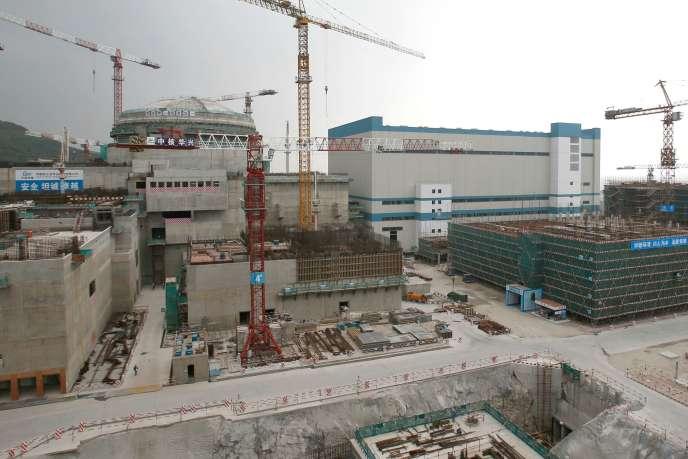 Une centrale nucléaire en construction à Taishan, dans la province de Guangdong, en Chine.