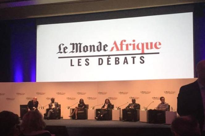 Lors des débats du Monde Afrique à Abidjan, jeudi 10 septembre.