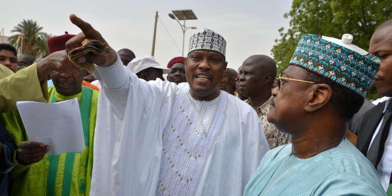 L'ancien président de l'Assemblée nationale du Niger, Hama Amadou, en juin 2014.