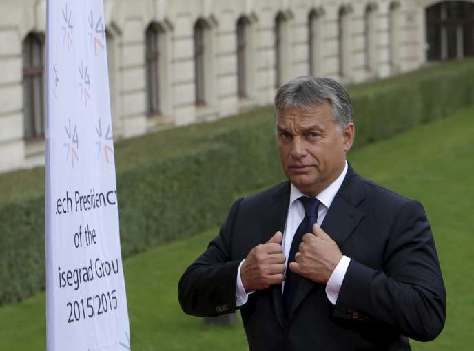 Viktor Orban  à Prague en République Tchèque le 4 septembre 2015.