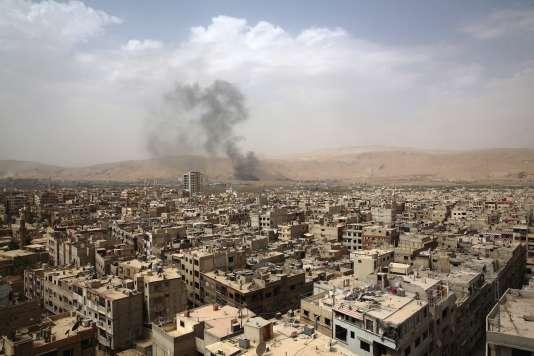 Le quartier de Douma, à l'Est de Damas, le 14 septembre 2015.
