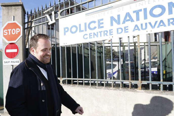 Le cofondateur de Bygmalion, Bastien Millot, après avoir été entendu par la police endécembre2014.