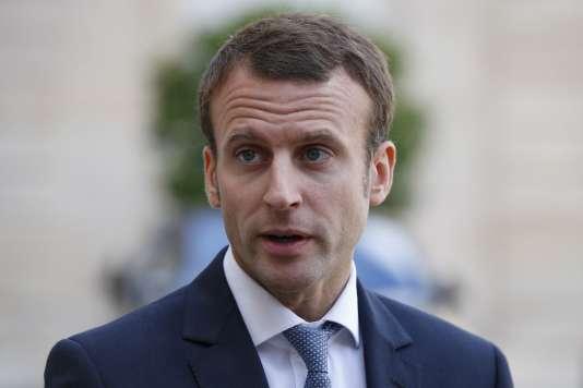 Le ministre de l'économie Emmanuel Macron, le 15 septembre à Paris.