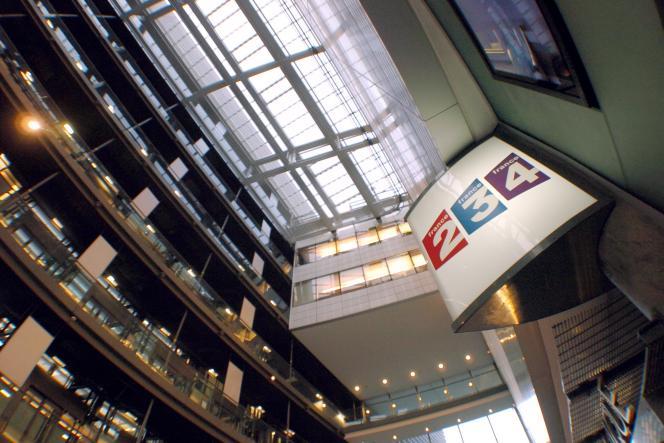 Dans les locaux de France Télévisions, à Paris.