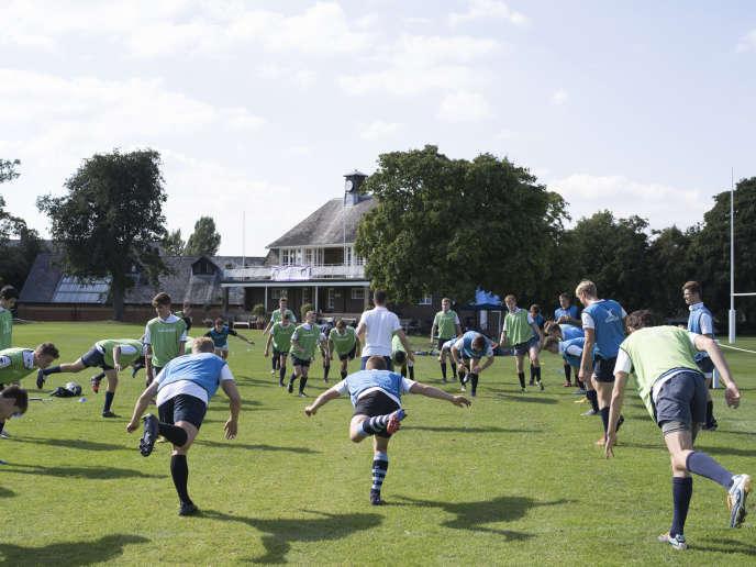 Entraînement des élèves de la Rugby School, le 10 septembre.