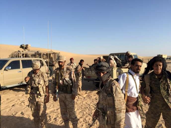 Des soldats entraînés par les pays du Conseil de coopération du Golfe dans la province yéménite de Mareb, le 14septembre.
