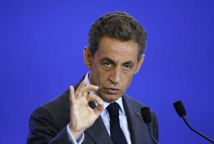 Nicolas Sarkozy, le président des Républicains, lors d'une