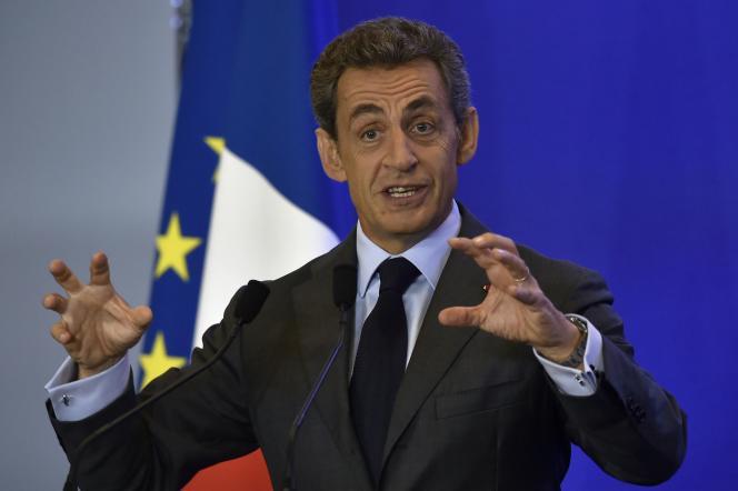 Nicolas Sarkozy, au siège des Républicains, à Paris, le 16septembre.
