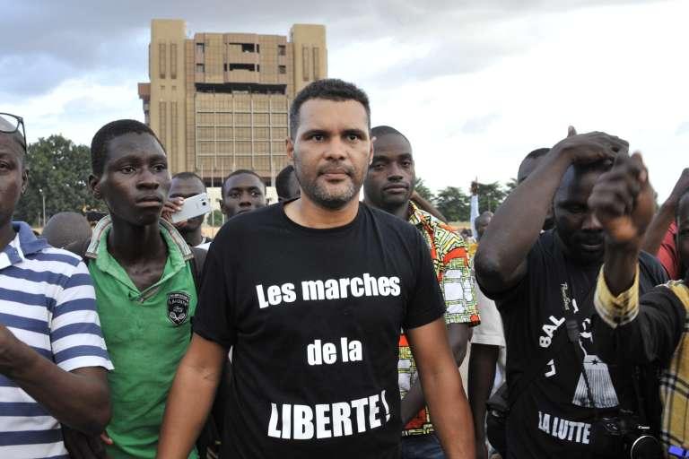 Smokey, le cofondateur du Balai citoyen, le 16 septembre à Ouagadougou.