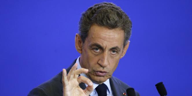 Nicolas Sarkozy, en meeting le 16 septembre à Paris.