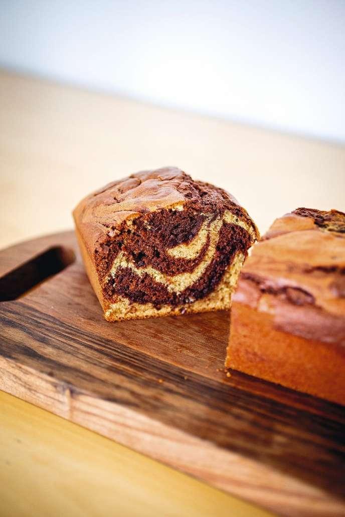 Le marbré au chocolat de Carole Saturno.