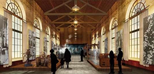 Perspective du site de la Maison Rouge à Saint-Jean-du-Gard, une fois les travaux terminés.