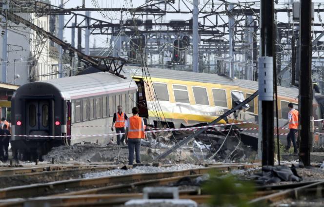 Un train effectuant la liaison Paris-Limoges avait déraillé le 12juillet 2013, en gare de Brétigny-sur-Orge.