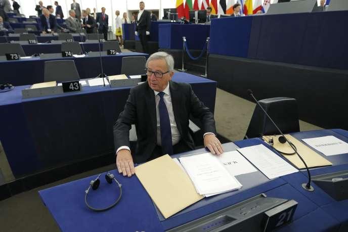 Jean-Claude Juncker au Parlement européen de Strasbourg, le 9 septembre 2015.