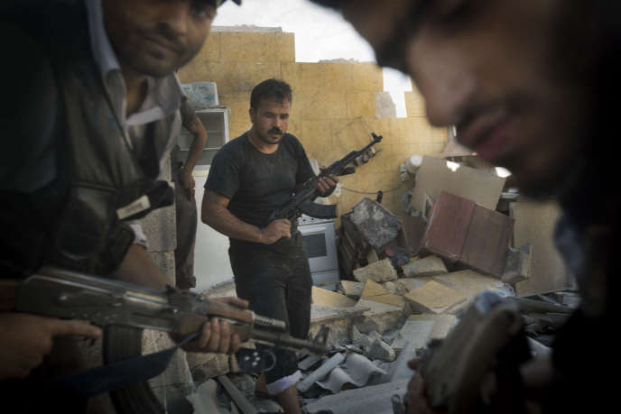 Combattants de l'opposition syrienne au nord d'Alep