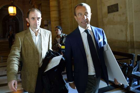 La soldat Médéric Bertaud, à gauche, à la cour d'assises de Paris, le 24 septembre 2015.