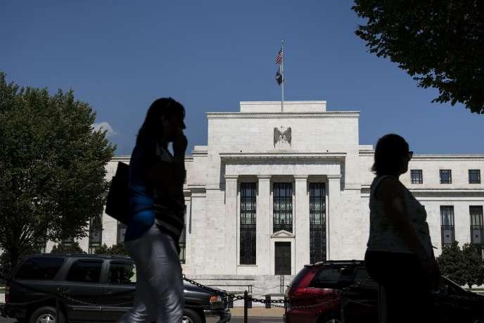 Vue de la Réserve fédérale américaine (Fed) à Washington, le 17 septembre 2015.
