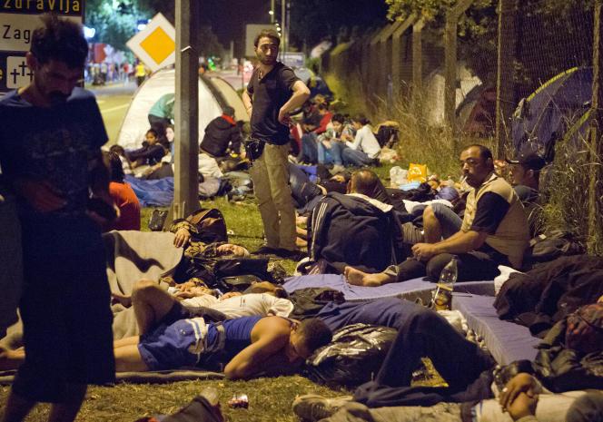 A Beli Manastir, ville croate proche de la frontière avec la Hongrie, le 17 septembre.