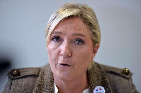 Marine Le Pen, la présidente du Front national, le 17 septembre 2015.