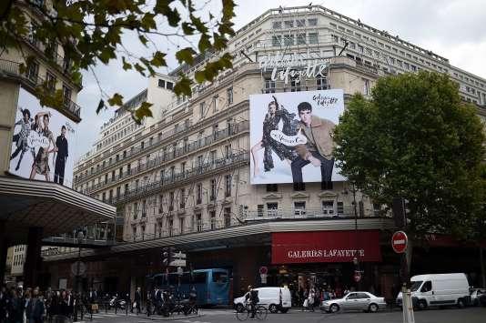 Le magasin Galeries Lafayette à Paris, le 17 septembre 2015.STEPHANE DE SAKUTIN / AFP