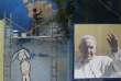 Une affiche représentant le Pape François à La Havane, Cuba, le 17 septembre 2015.