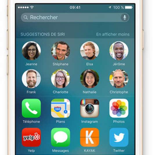 Des suggestions personnalisées sur iOS 9.