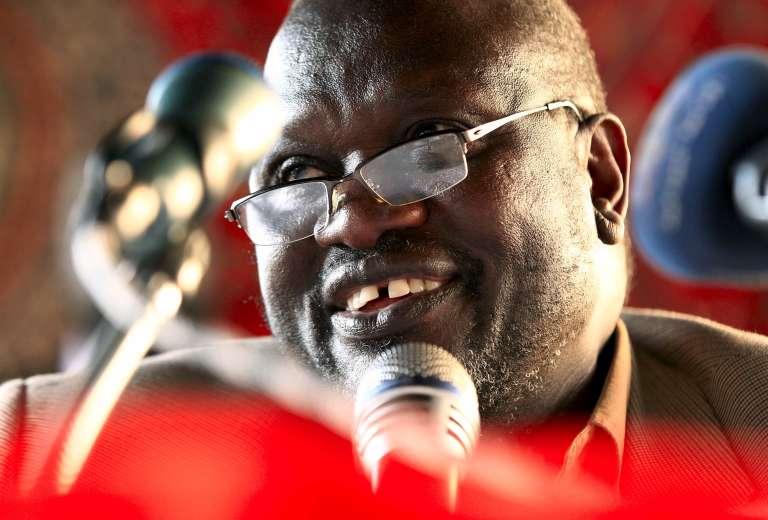 Le chef des rebelles sud-soudanais Riek Machar, à Khartoum, le 18 septembre.