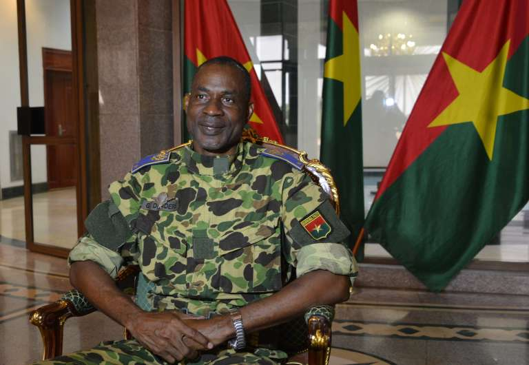 Le général Gilbert Diendéré, au palais présidentiel de Ouagadougou, le 17septembre.