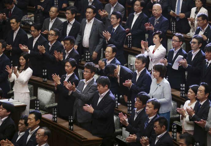 Au Parlement japonais, samedi 19 septembre.