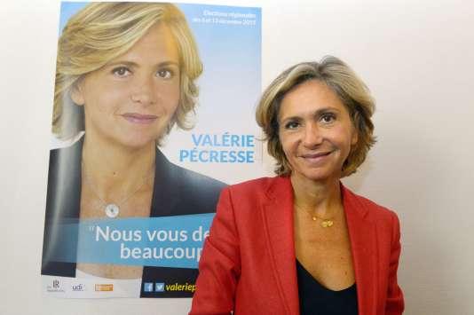 La liste de droite et du centre conduite par Valérie Pécresse – ici le 18 septembre– arriverait en tête au premier tour de l'élection régionale et serait au coude-à-coude avec les socialistes au second tour.