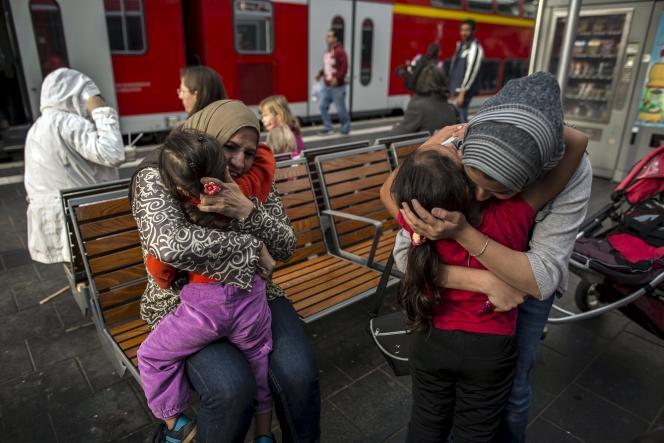 Des réfugiés syriens en Allemagne.