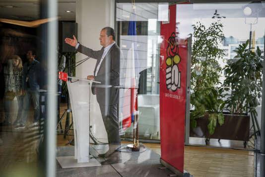 Jean-Christophe Cambadélis, premier secrétaire du Parti socialiste, le 28 août àLaRochelle.