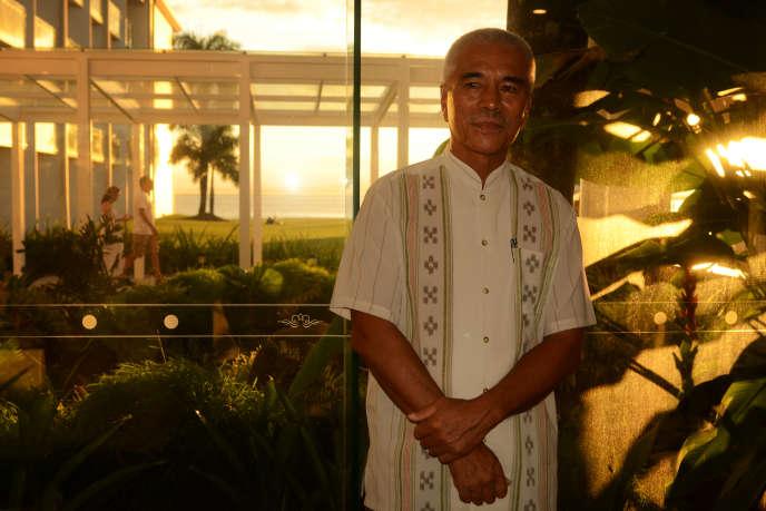 Le président de la République des Kiribati, Anote Tong, en juillet à Suva, Fidji.